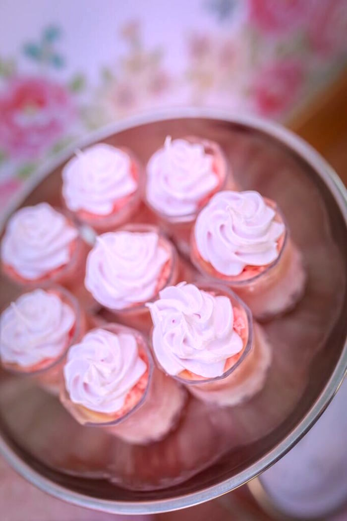 Cupcakes from a Shabby Chic Bakery Birthday Party via Kara's Party Ideas |The Place for All Things Party! KarasPartyIdeas.com (13)