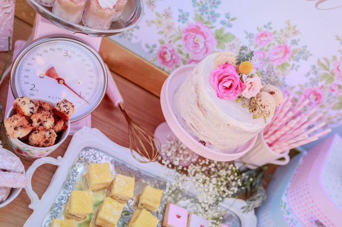 Cake + Sweets from a Shabby Chic Bakery Birthday Party via Kara's Party Ideas |The Place for All Things Party! KarasPartyIdeas.com (11)
