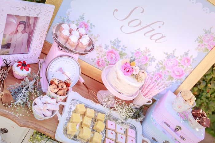 Desserts + Sweets from a Shabby Chic Bakery Birthday Party via Kara's Party Ideas |The Place for All Things Party! KarasPartyIdeas.com (10)