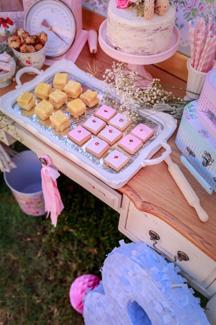 Sweets from a Shabby Chic Bakery Birthday Party via Kara's Party Ideas |The Place for All Things Party! KarasPartyIdeas.com (9)