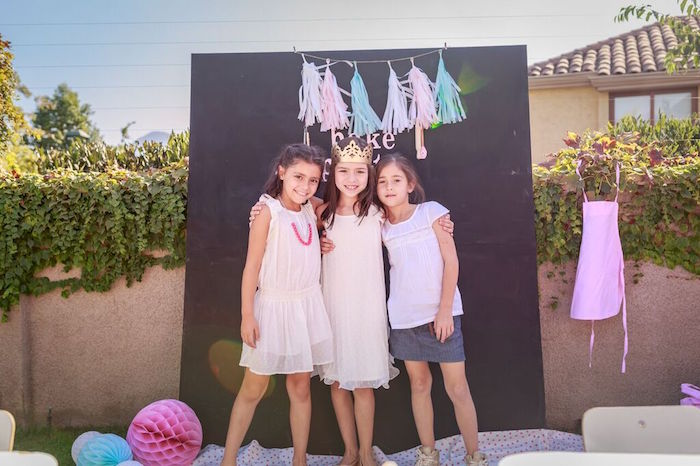 Little Girls from a Shabby Chic Bakery Birthday Party via Kara's Party Ideas |The Place for All Things Party! KarasPartyIdeas.com (8)