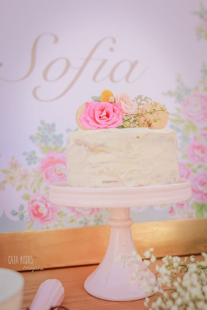 Cake from a Shabby Chic Bakery Birthday Party via Kara's Party Ideas |The Place for All Things Party! KarasPartyIdeas.com (31)