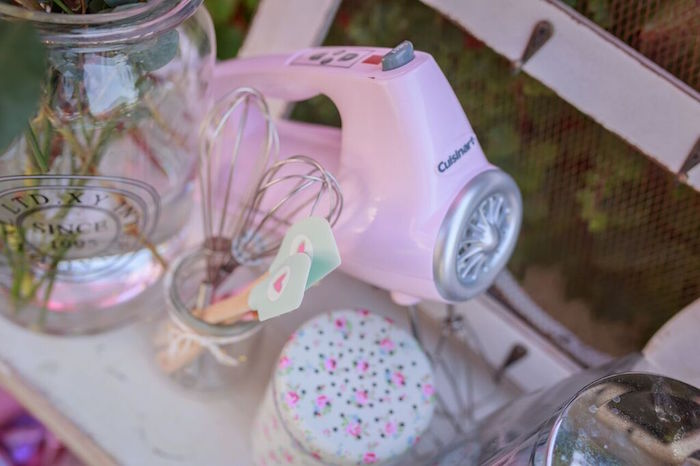 Baking Decor from a Shabby Chic Bakery Birthday Party via Kara's Party Ideas |The Place for All Things Party! KarasPartyIdeas.com (29)
