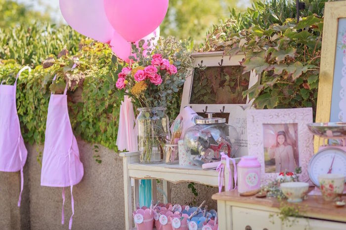 Details from a Shabby Chic Bakery Birthday Party via Kara's Party Ideas |The Place for All Things Party! KarasPartyIdeas.com (28)