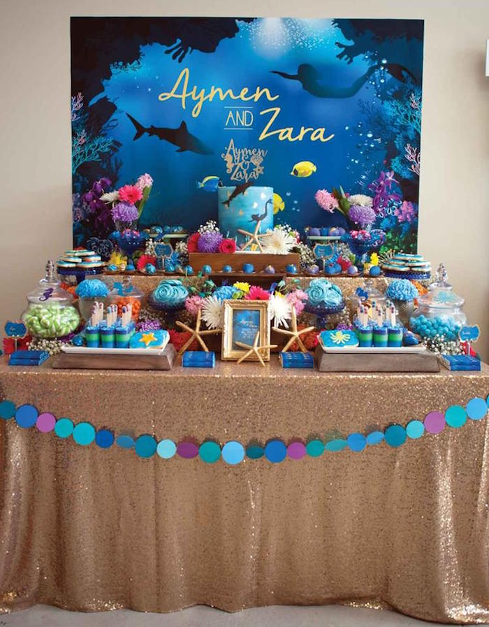 Kara s party ideas shark mermaid under the sea joint