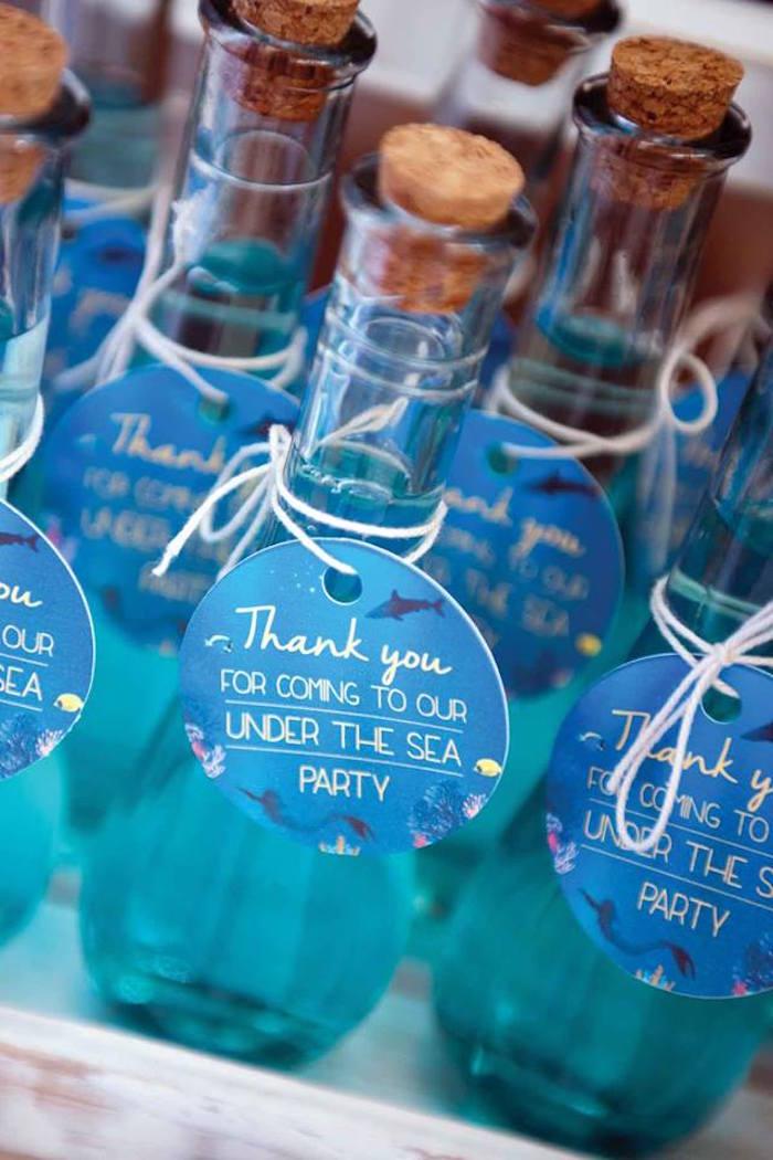 "Favors from a Shark & Mermaid ""Under the Sea"" Joint Birthday Party via Kara's Party Ideas! KarasPartyIdeas.com (40)"