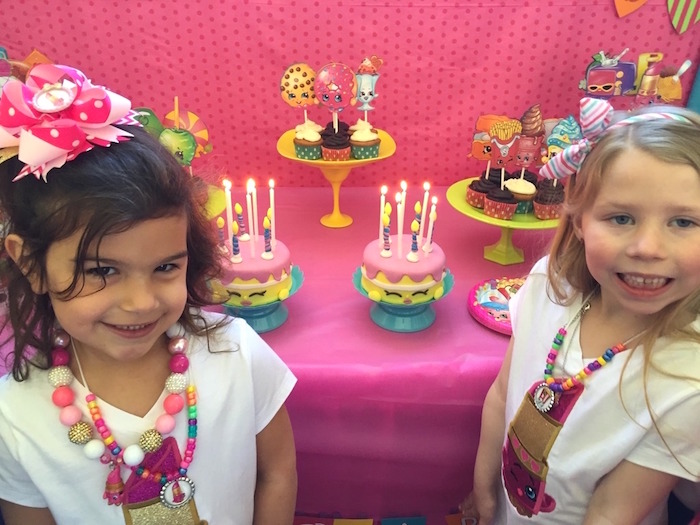 Birthday Girls from a Shopkins Birthday Party via Kara's Party Ideas - KarasPartyIdeas.com (4)