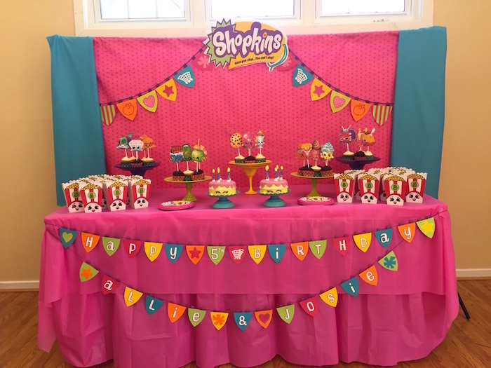 Kara 39 s party ideas girly shopkins birthday party kara 39 s for 5th birthday decoration ideas