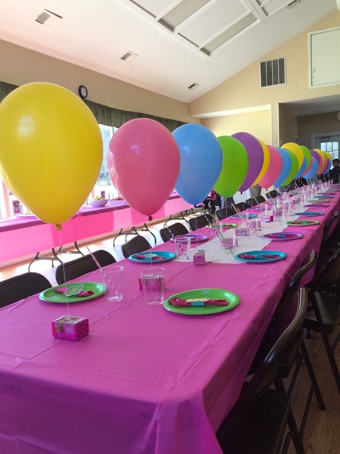 Guest Table from a Shopkins Birthday Party via Kara's Party Ideas - KarasPartyIdeas.com (8)