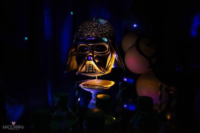 Illuminated Darth Vader Decor Piece from a Star Wars Glow in the Dark Birthday Party via Kara's Party Ideas | KarasPartyIdeas.com (29)