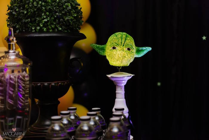 Yoda Light from a Star Wars Glow in the Dark Birthday Party via Kara's Party Ideas | KarasPartyIdeas.com (23)