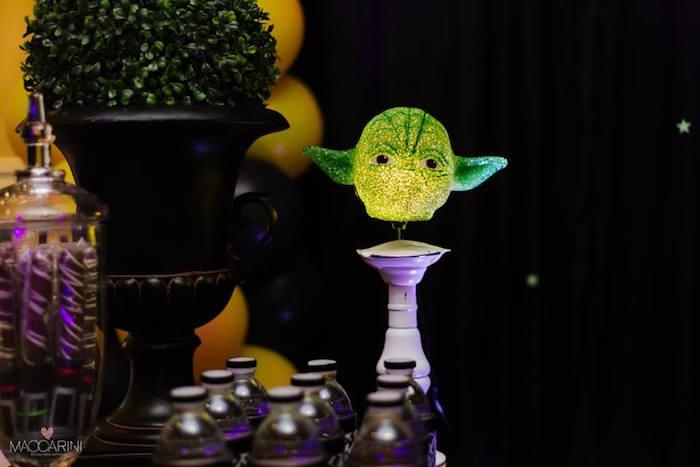 Yoda Light from a Star Wars Glow in the Dark Birthday Party via Kara's Party Ideas | KarasPartyIdeas.com (23)