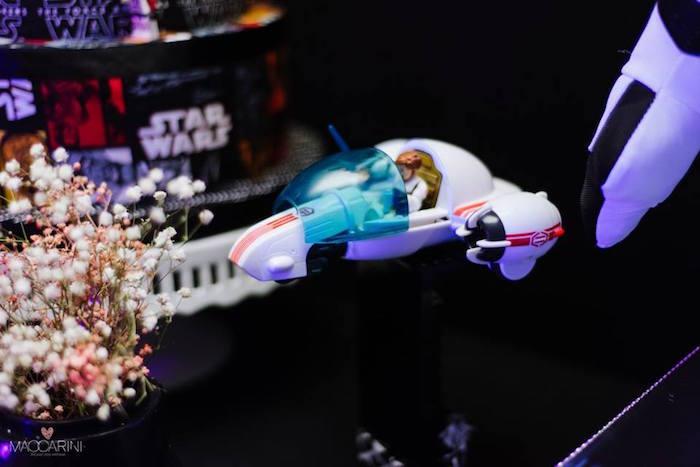 Space Ship Decor Piece from a Star Wars Glow in the Dark Birthday Party via Kara's Party Ideas | KarasPartyIdeas.com (22)