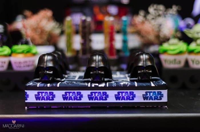 Darth Vader Favors from a Star Wars Glow in the Dark Birthday Party via Kara's Party Ideas | KarasPartyIdeas.com (18)