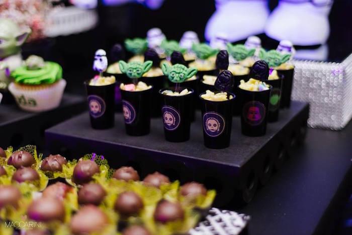 Snack Cups from a Star Wars Glow in the Dark Birthday Party via Kara's Party Ideas | KarasPartyIdeas.com (14)