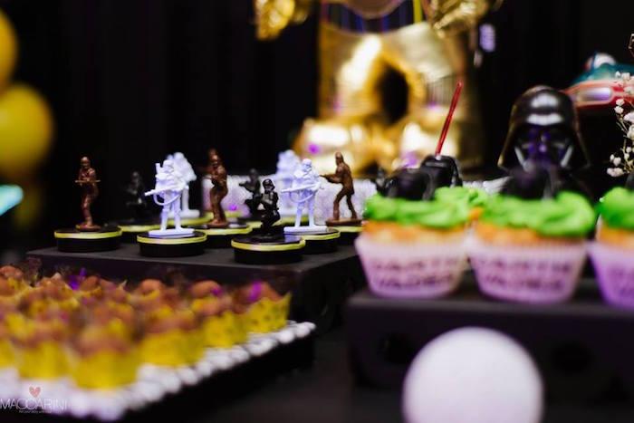 Favors from a Star Wars Glow in the Dark Birthday Party via Kara's Party Ideas | KarasPartyIdeas.com (12)