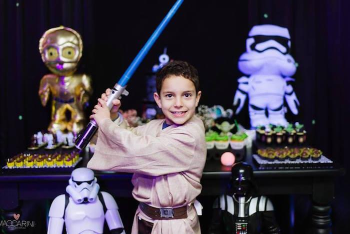 Birthday Boy from a Star Wars Glow in the Dark Birthday Party via Kara's Party Ideas | KarasPartyIdeas.com (3)