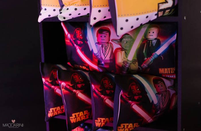 Favor Pillows from a Star Wars Glow in the Dark Birthday Party via Kara's Party Ideas | KarasPartyIdeas.com (33)