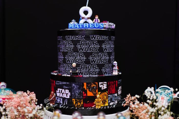 Karas Party Ideas Star Wars Glow In The Dark Birthday Party