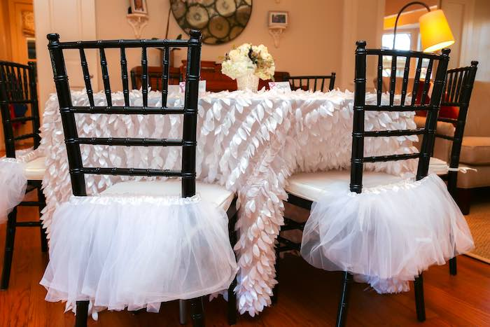 Guest Table from a Swan Lake Themed Ballet Birthday Party via Kara's Party Ideas KarasPartyIdeas.com (4)
