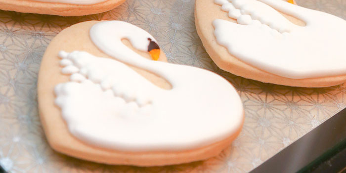 Swan Cookie from a Swan Lake Themed Ballet Birthday Party via Kara's Party Ideas KarasPartyIdeas.com (3)