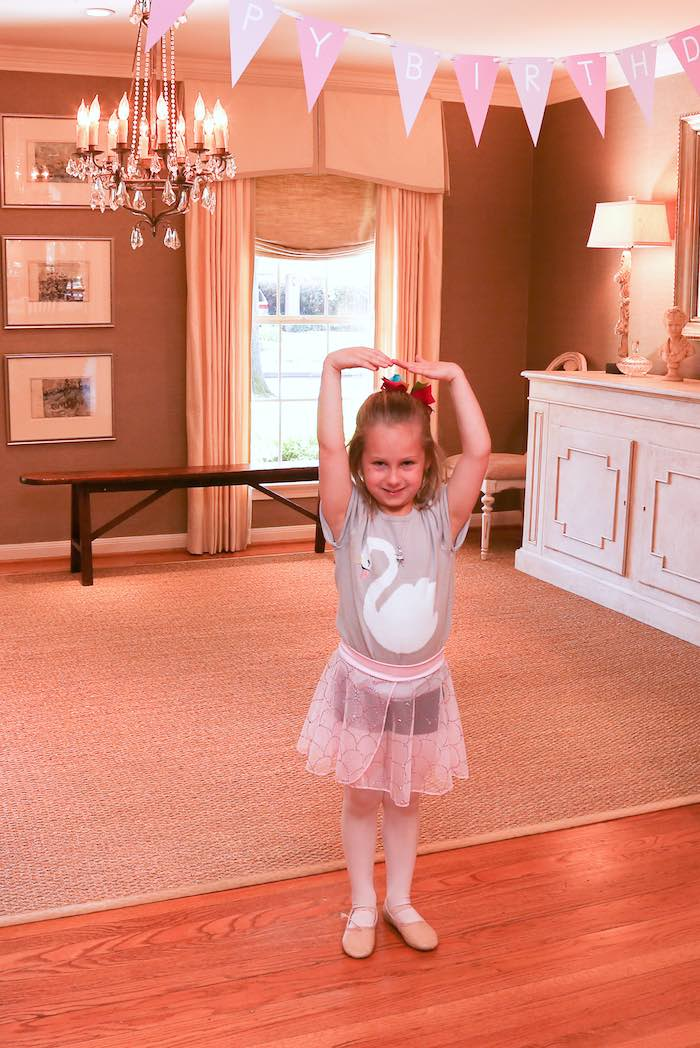 Birthday Ballerina from a Swan Lake Themed Ballet Birthday Party via Kara's Party Ideas KarasPartyIdeas.com (20)