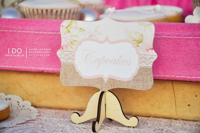 Sweet Label from a Vintage Shabby Chic 1st Birthday Party via Kara's Party Ideas | KarasPartyIdeas.com (37)