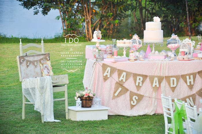 Party Details from a Vintage Shabby Chic 1st Birthday Party via Kara's Party Ideas | KarasPartyIdeas.com (32)