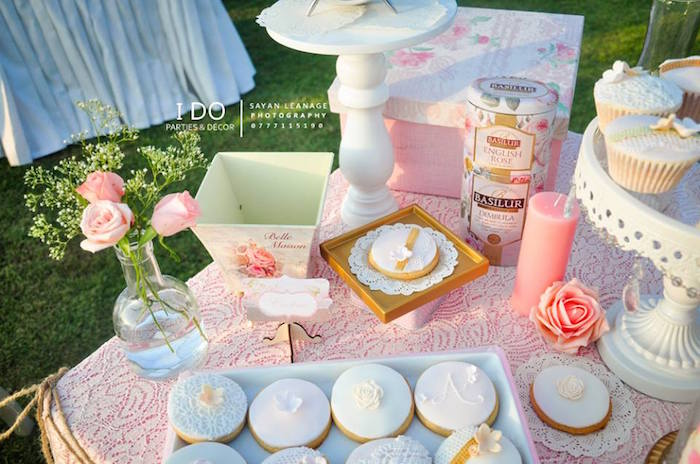 Sweet Tabletop Details from a Vintage Shabby Chic 1st Birthday Party via Kara's Party Ideas | KarasPartyIdeas.com (45)