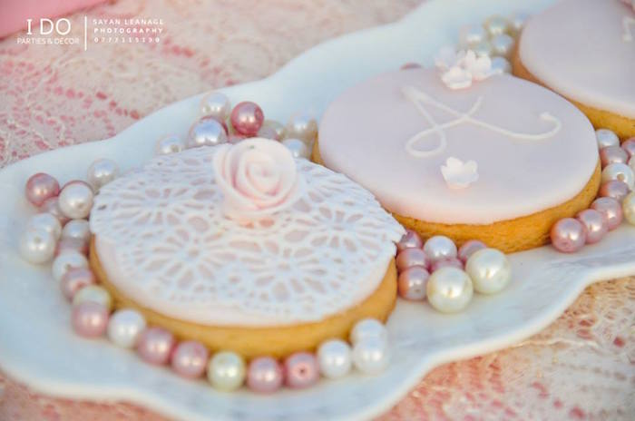 Cookies from a Vintage Shabby Chic 1st Birthday Party via Kara's Party Ideas | KarasPartyIdeas.com (11)
