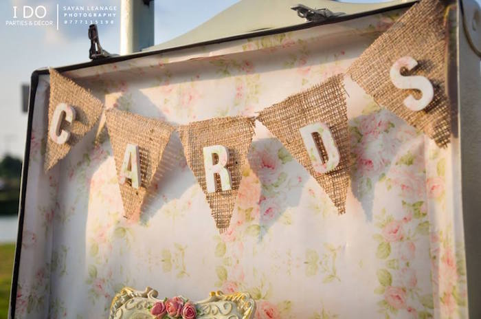 Burlap Banner from a Vintage Shabby Chic 1st Birthday Party via Kara's Party Ideas | KarasPartyIdeas.com (9)