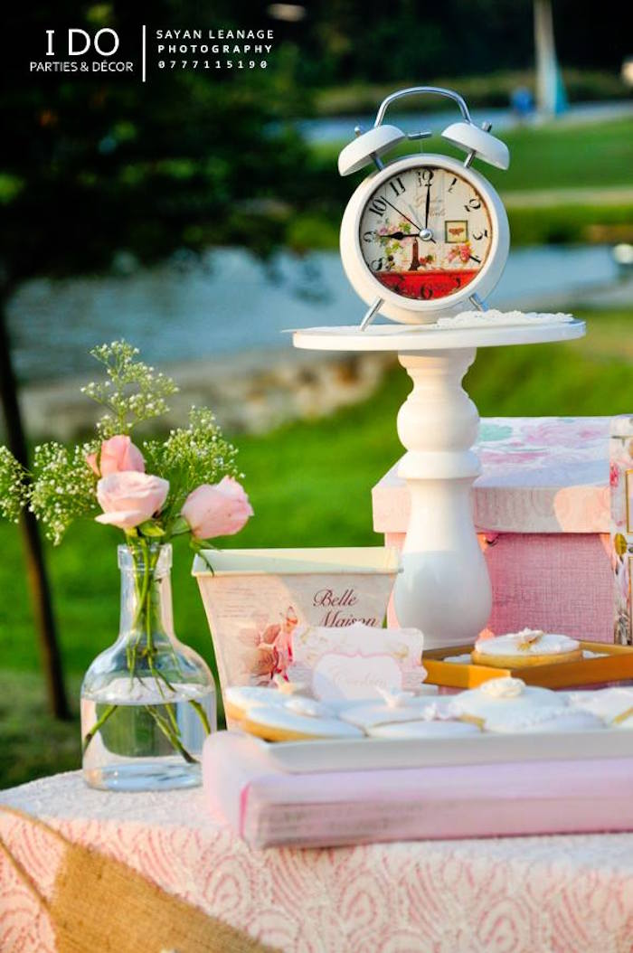 Details from a Vintage Shabby Chic 1st Birthday Party via Kara's Party Ideas | KarasPartyIdeas.com (44)