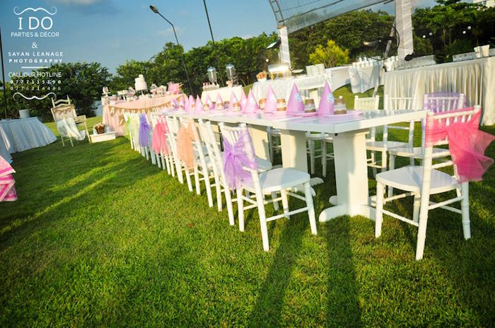 Kids Table from a Vintage Shabby Chic 1st Birthday Party via Kara's Party Ideas | KarasPartyIdeas.com (43)