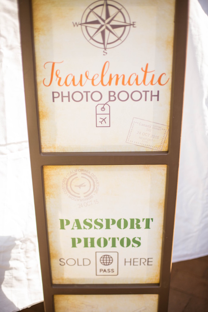 Photo Booth from a Vintage Travel Bar Mitzvah Party via Kara's Party Ideas - KarasPartyIdeas.com (3)