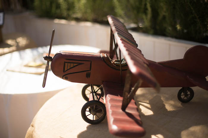 Vintage Airplane Decor Piece from a Vintage Travel Bar Mitzvah Party via Kara's Party Ideas - KarasPartyIdeas.com (23)