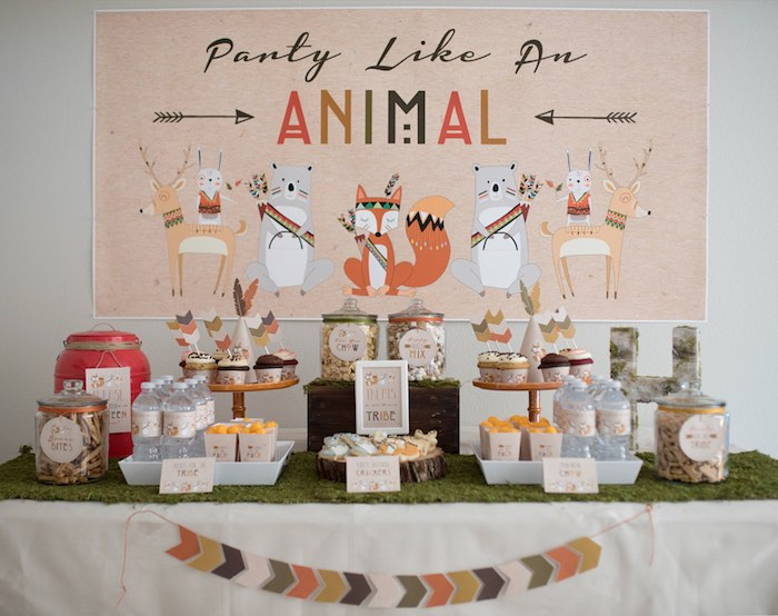 Kara's Party Ideas Woodland Animals Birthday Party | Kara ...