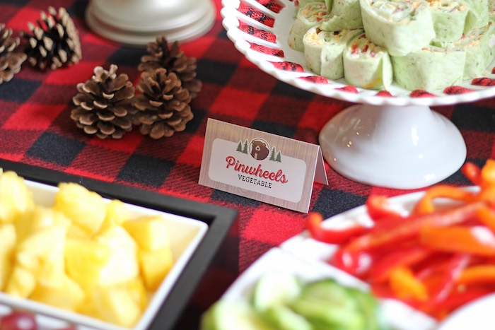 Food From A Woodland Animal Lumberjack Baby Shower Via Karas Party Ideas KarasPartyIdeas