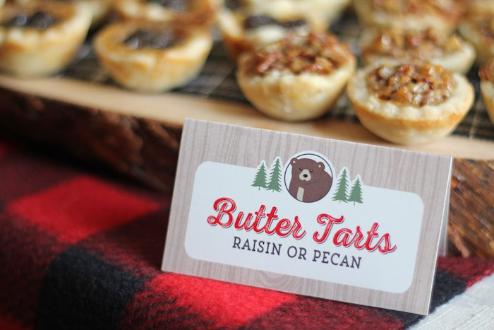 Sweet Label + Butter Tarts from a Woodland Animal + Lumberjack Baby Shower via Kara's Party Ideas! KarasPartyIdeas.com (9)