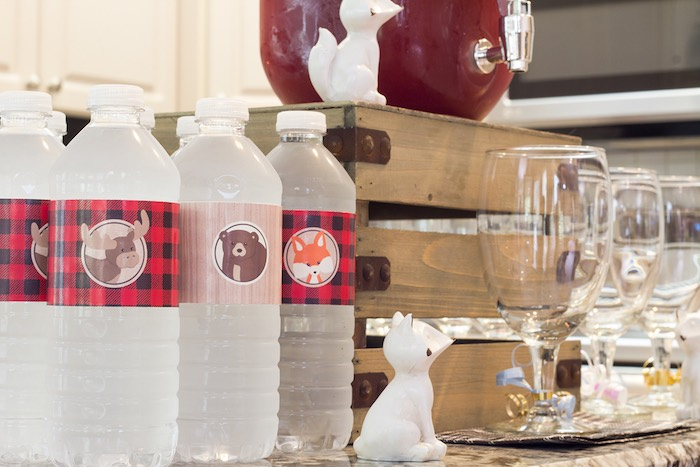 Drink Table Elements from a Woodland Animal + Lumberjack Baby Shower via Kara's Party Ideas! KarasPartyIdeas.com (6)