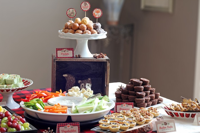 Food + Sweets From A Woodland Animal + Lumberjack Baby Shower Via Karau0027s  Party Ideas!
