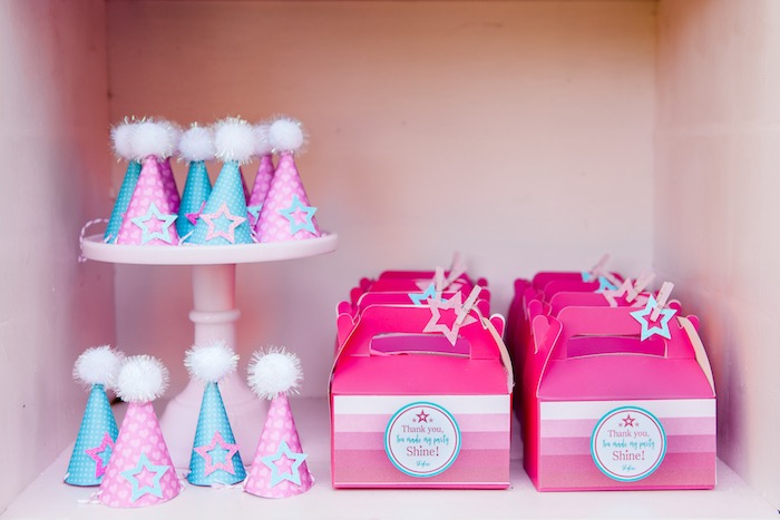 Party Hats & Favor Boxes from an American Girl Doll Inspired Birthday Party via Kara's Party Ideas | KarasPartyIdeas.com | The Place for All Things Party! (38)
