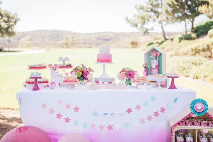 Dessert Table from an American Girl Doll Inspired Birthday Party via Kara's Party Ideas | KarasPartyIdeas.com | The Place for All Things Party! (36)