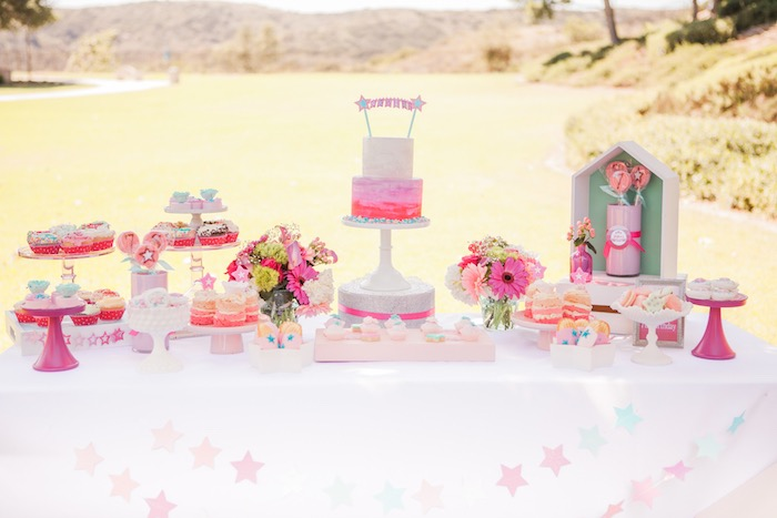 Dessert Table Details from an American Girl Doll Inspired Birthday Party via Kara's Party Ideas | KarasPartyIdeas.com | The Place for All Things Party! (35)