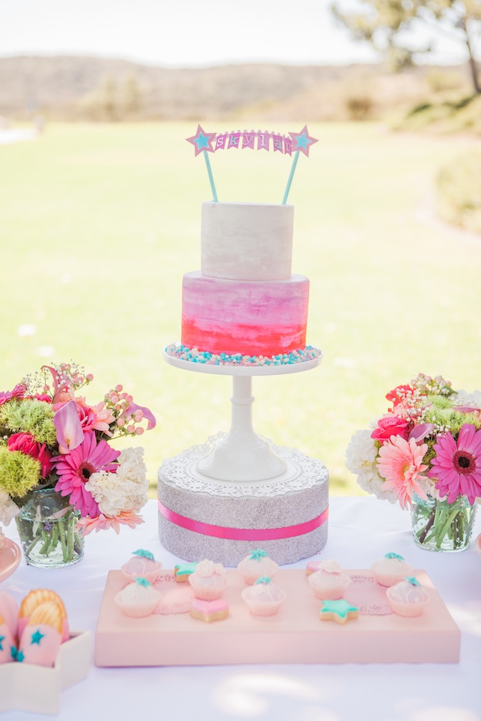 Cake Display from an American Girl Doll Inspired Birthday Party via Kara's Party Ideas | KarasPartyIdeas.com | The Place for All Things Party! (34)