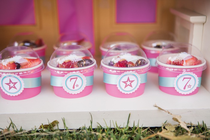 Fruit Cups from an American Girl Doll Inspired Birthday Party via Kara's Party Ideas | KarasPartyIdeas.com | The Place for All Things Party! (32)