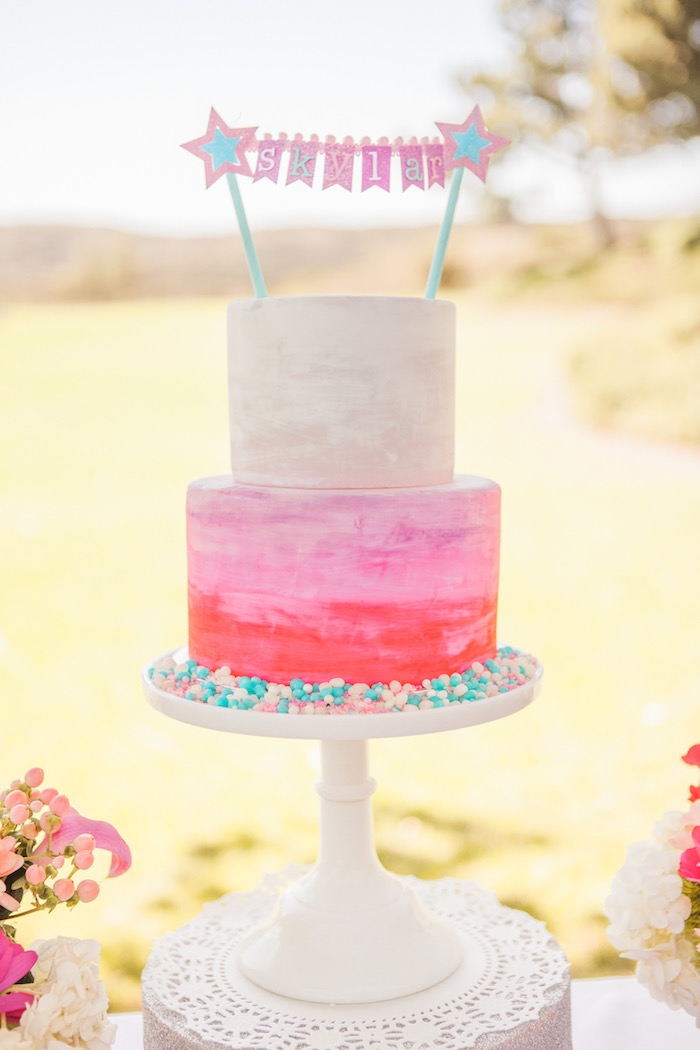 Cake from an American Girl Doll Inspired Birthday Party via Kara's Party Ideas | KarasPartyIdeas.com | The Place for All Things Party! (30)