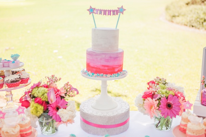 Cake Display from an American Girl Doll Inspired Birthday Party via Kara's Party Ideas | KarasPartyIdeas.com | The Place for All Things Party! (28)