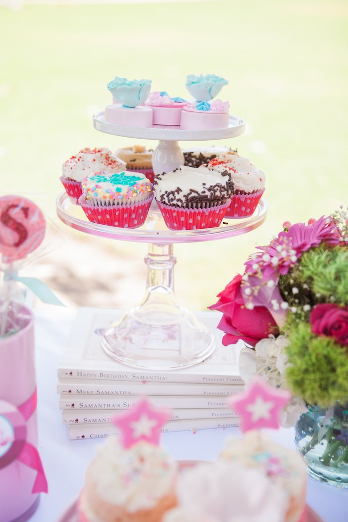 Cupcakes + Chocolate Covered Oreos from an American Girl Doll Inspired Birthday Party via Kara's Party Ideas | KarasPartyIdeas.com | The Place for All Things Party! (27)