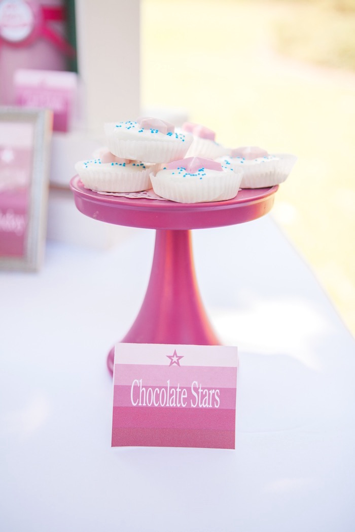 Chocolate Stars from an American Girl Doll Inspired Birthday Party via Kara's Party Ideas | KarasPartyIdeas.com | The Place for All Things Party! (23)