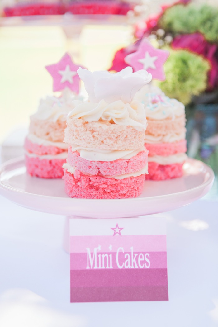Mini Cakes from an American Girl Doll Inspired Birthday Party via Kara's Party Ideas | KarasPartyIdeas.com | The Place for All Things Party! (22)